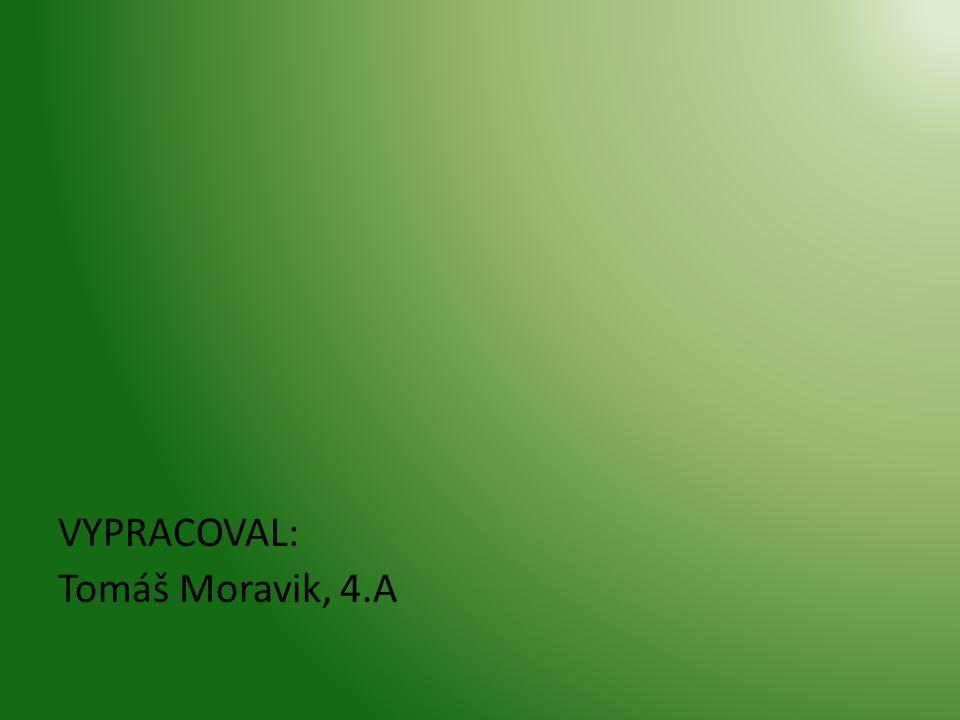 VYPRACOVAL: Tomáš Moravik, 4.A