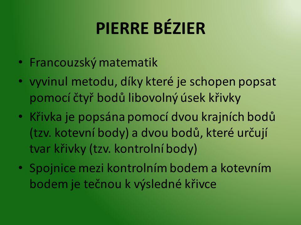 PIERRE BÉZIER Francouzský matematik