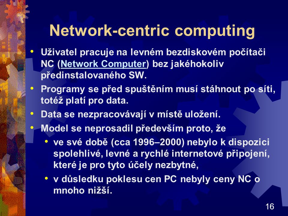 Network-centric computing