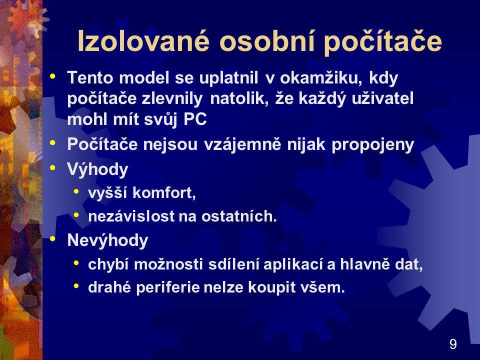 Izolované osobní počítače