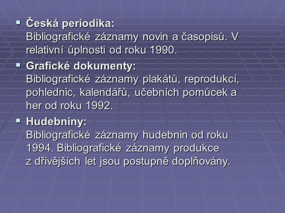 Česká periodika: Bibliografické záznamy novin a časopisů
