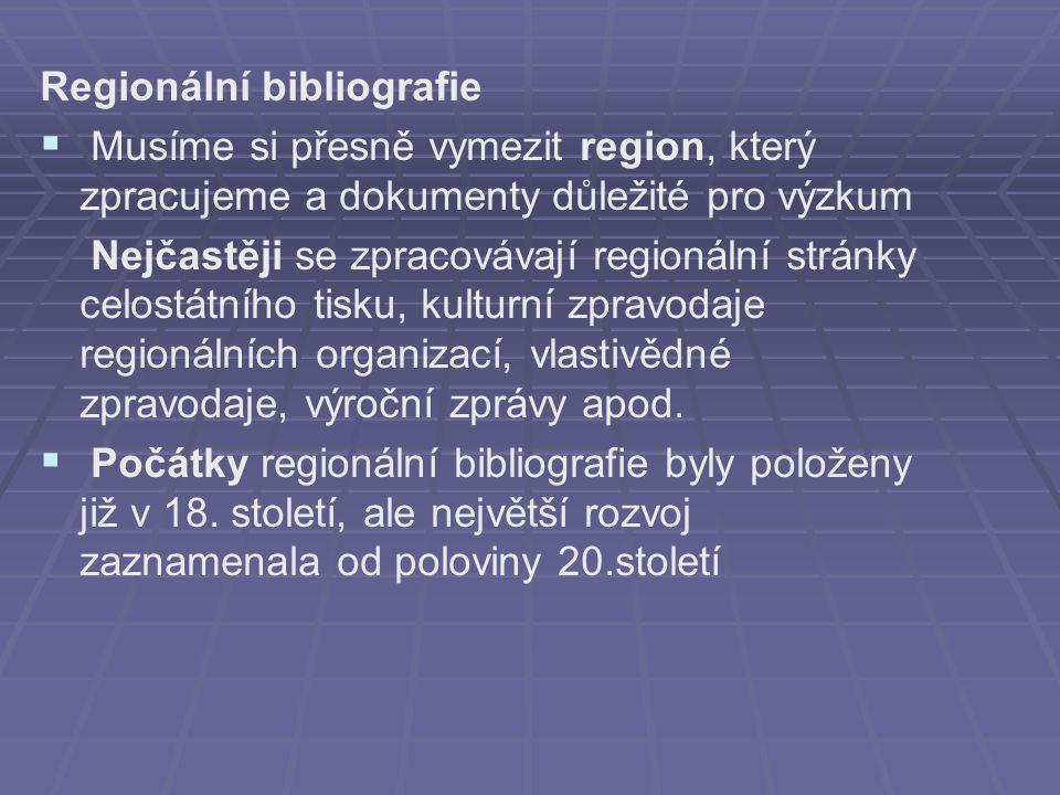 Regionální bibliografie