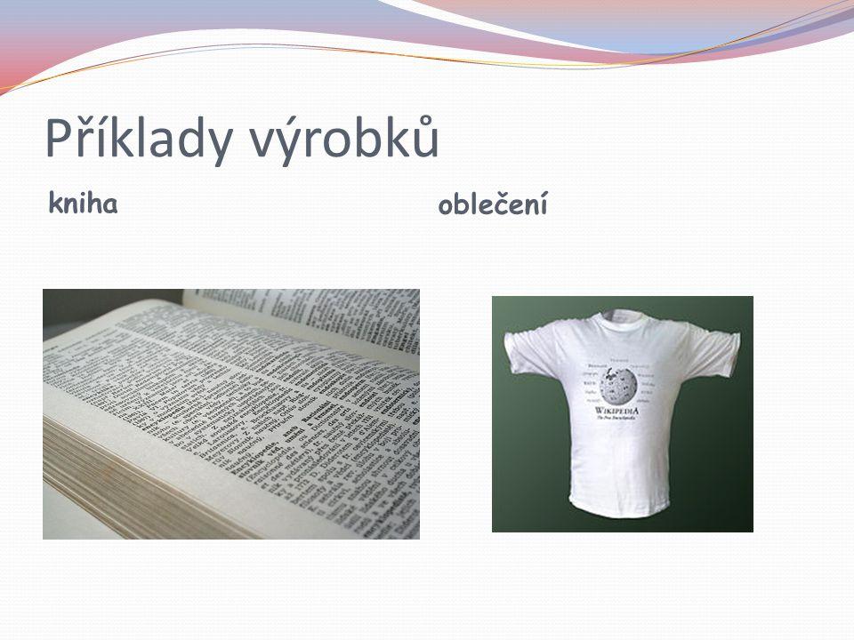 Příklady výrobků kniha oblečení