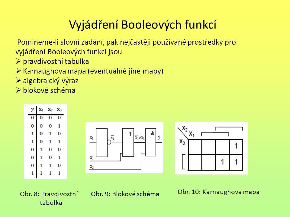 Vyjádření Booleových funkcí