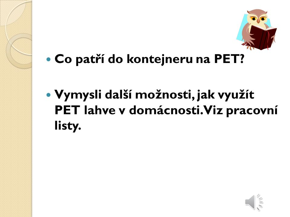 Co patří do kontejneru na PET
