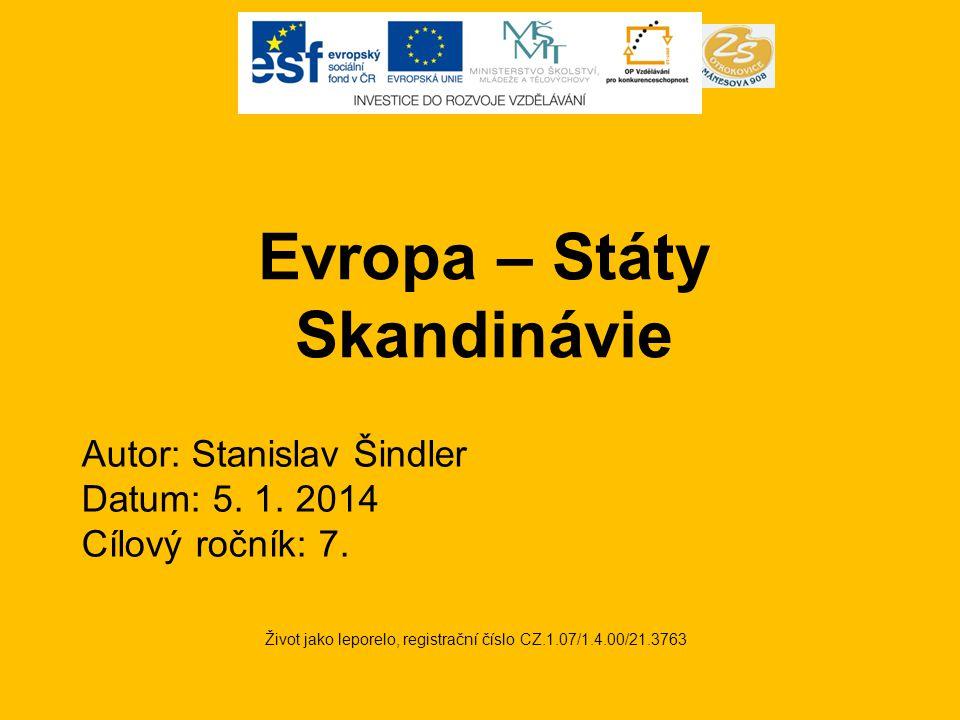 Evropa – Státy Skandinávie