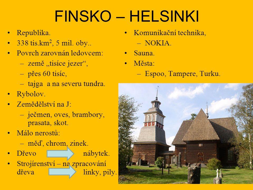 FINSKO – HELSINKI Republika. Komunikační technika,