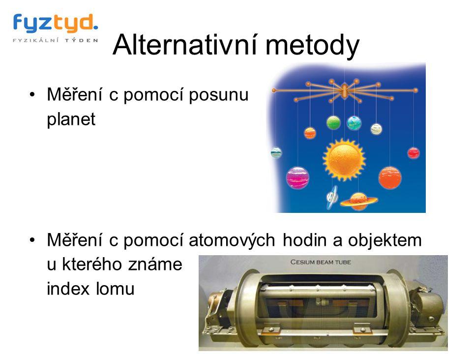 Alternativní metody Měření c pomocí posunu planet