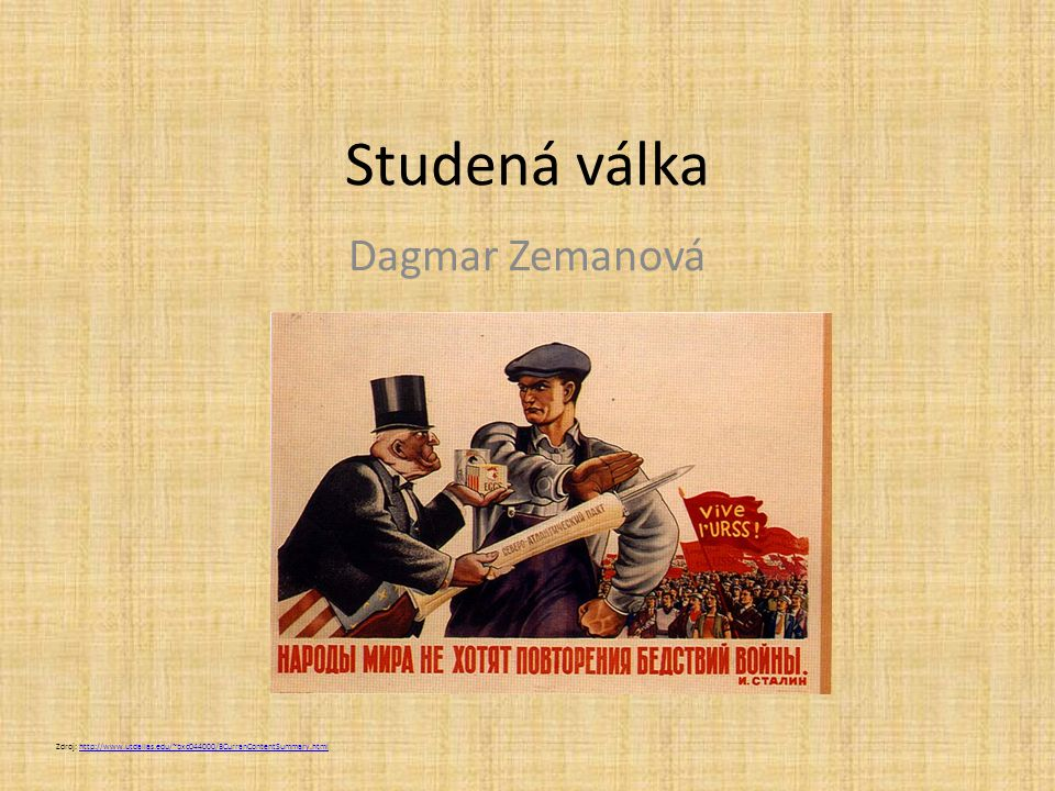 Studená válka Dagmar Zemanová