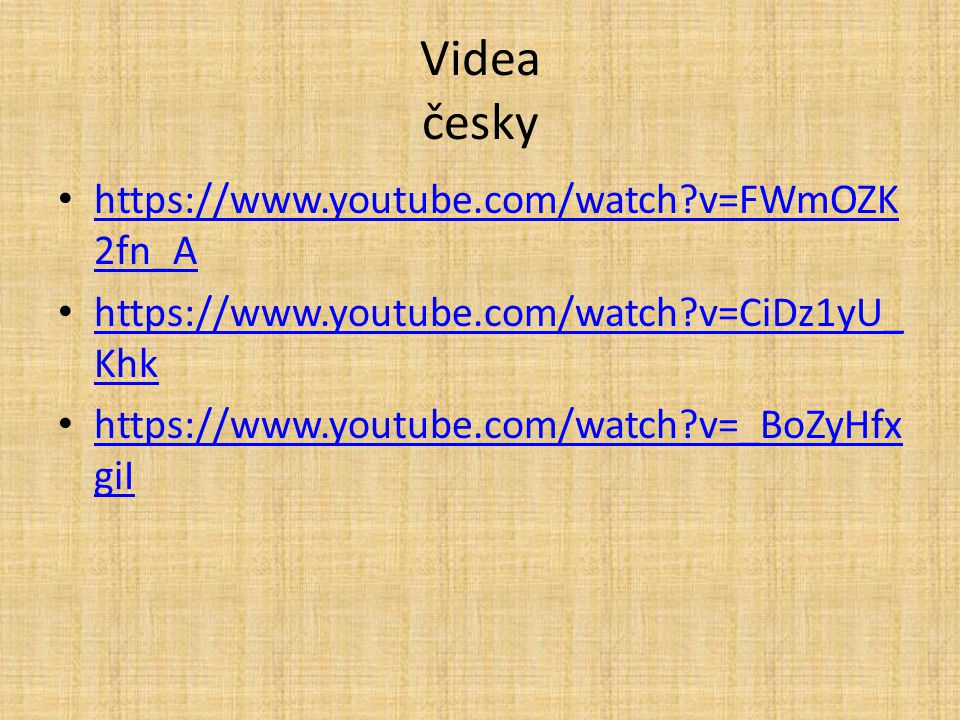 Videa česky https://www.youtube.com/watch v=FWmOZK2fn_A