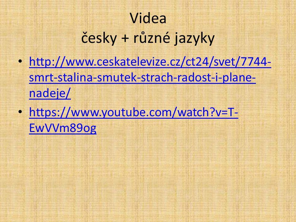 Videa česky + různé jazyky