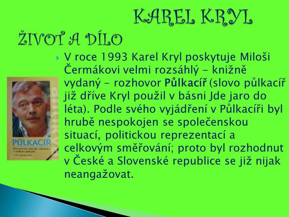 KAREL KRYL ŽIVOT A DÍLO