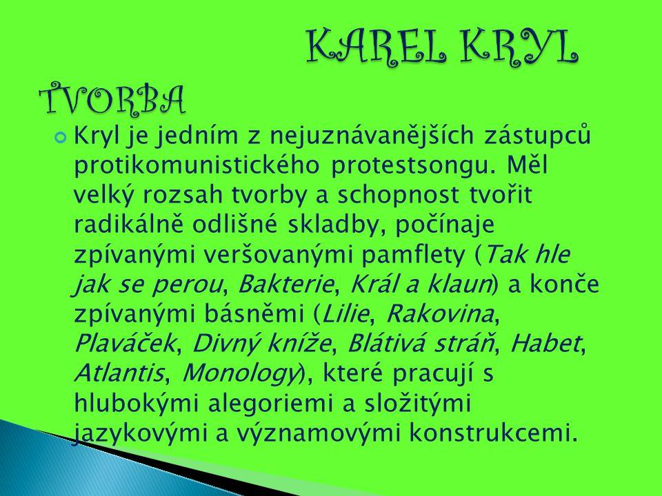 KAREL KRYL TVORBA