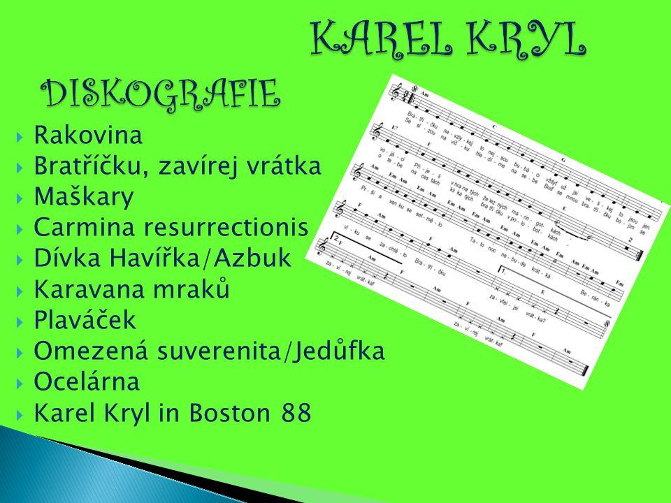 KAREL KRYL DISKOGRAFIE