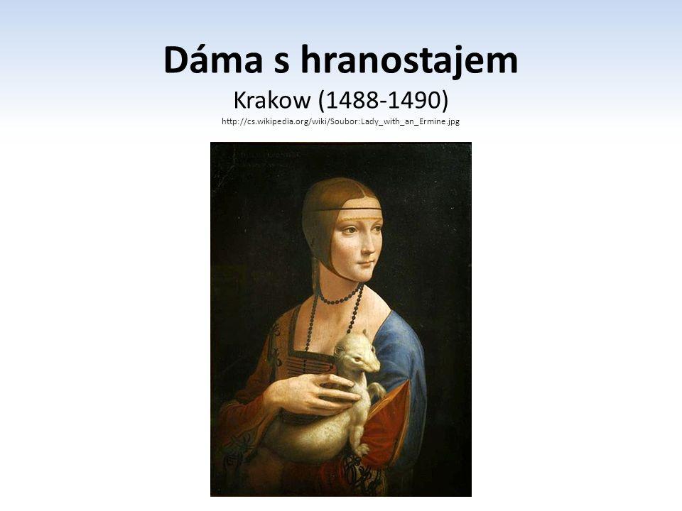 Dáma s hranostajem Krakow (1488-1490)