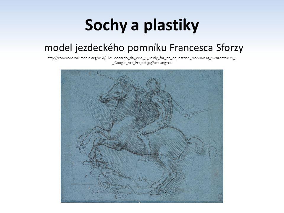 model jezdeckého pomníku Francesca Sforzy