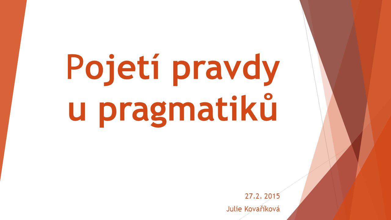 Pojetí pravdy u pragmatiků