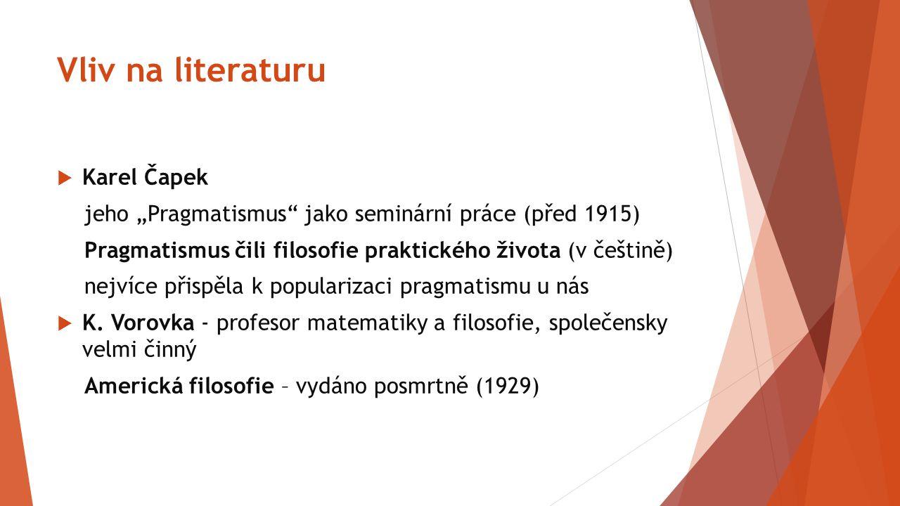 Vliv na literaturu Karel Čapek