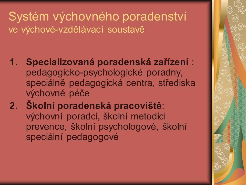 Systém výchovného poradenství ve výchově-vzdělávací soustavě
