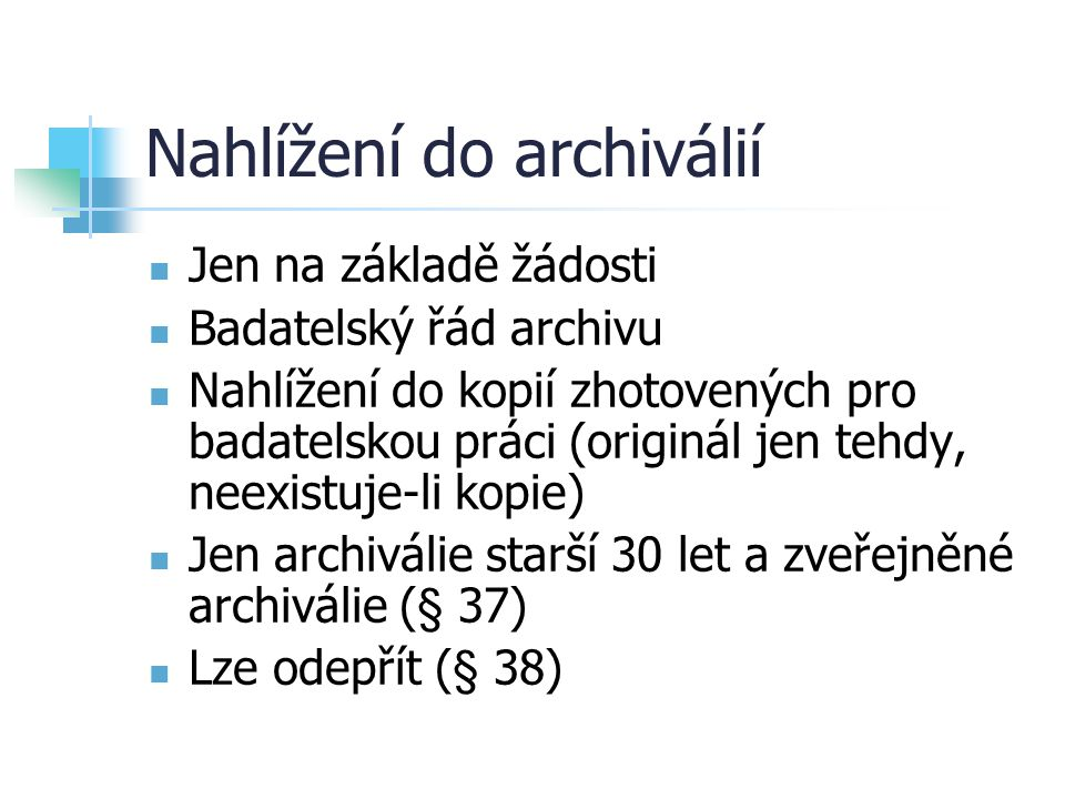 Nahlížení do archiválií