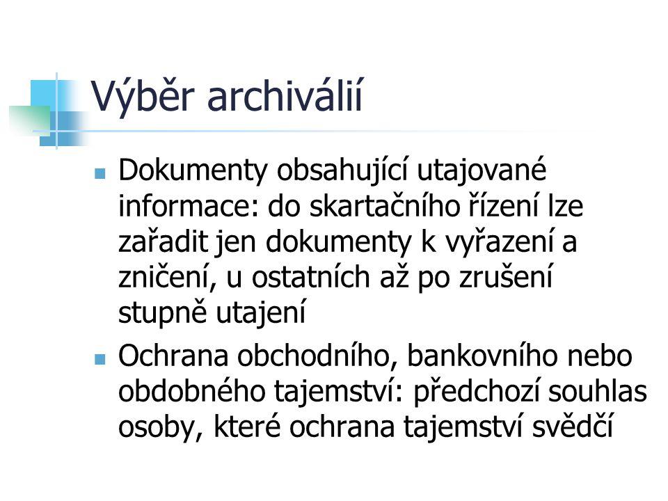 Výběr archiválií