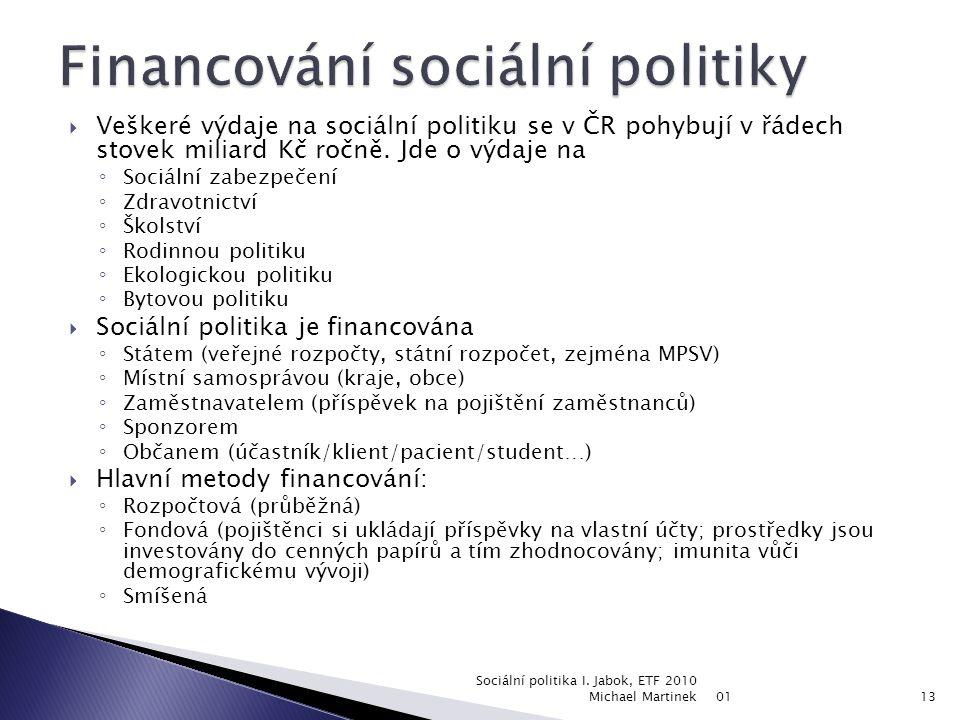 Financování sociální politiky