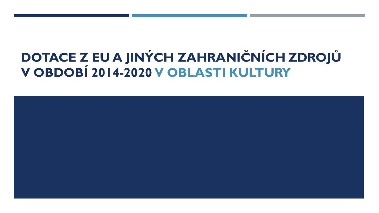 Dotace z eu a jiných zahraničních zdrojů v období 2014-2020 V OBLASTI KULTURY
