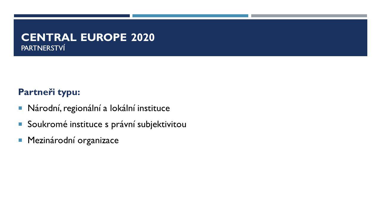 Central europe 2020 pARTNERSTVÍ