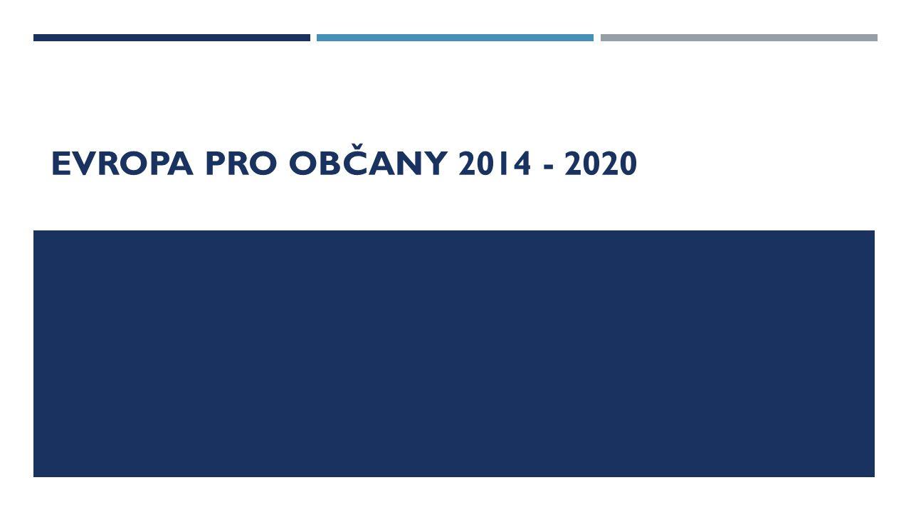 EVROPA PRO OBČANY 2014 - 2020