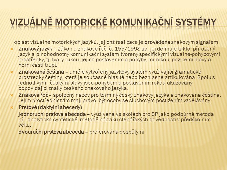 Vizuálně motorické komunikační systémy