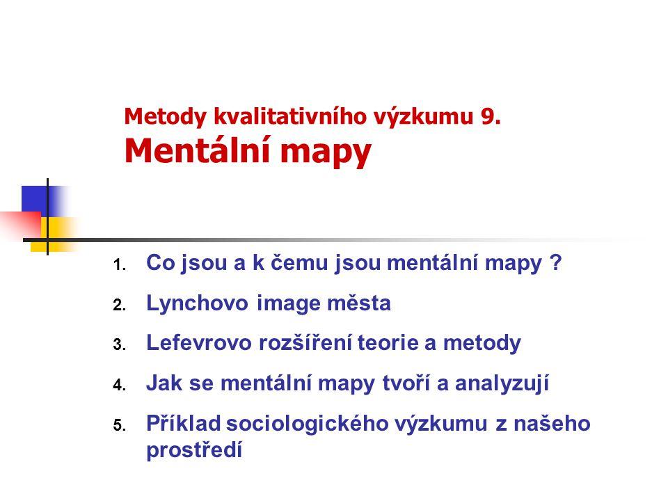 Metody kvalitativního výzkumu 9. Mentální mapy