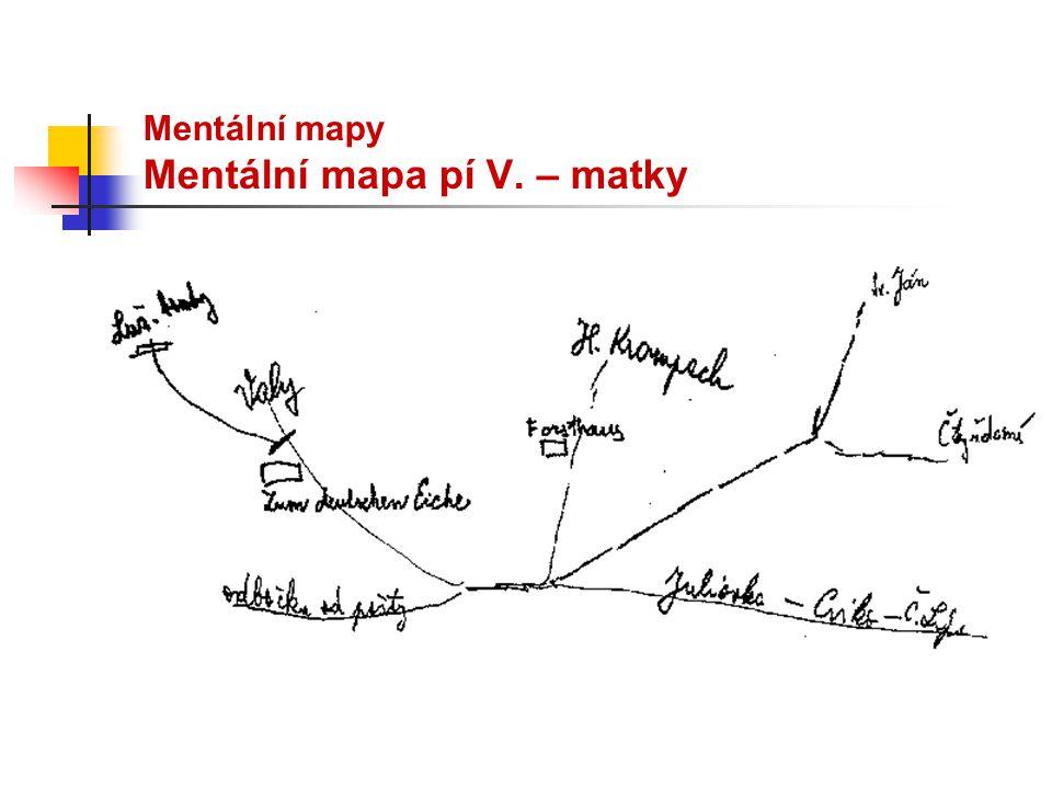Mentální mapy Mentální mapa pí V. – matky