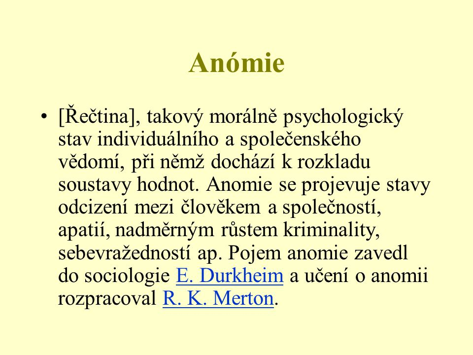 Anómie