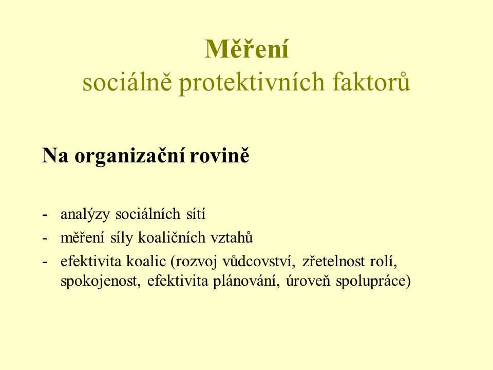 Měření sociálně protektivních faktorů