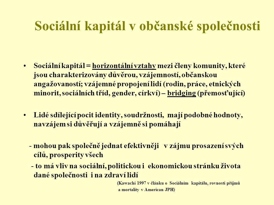 Sociální kapitál v občanské společnosti
