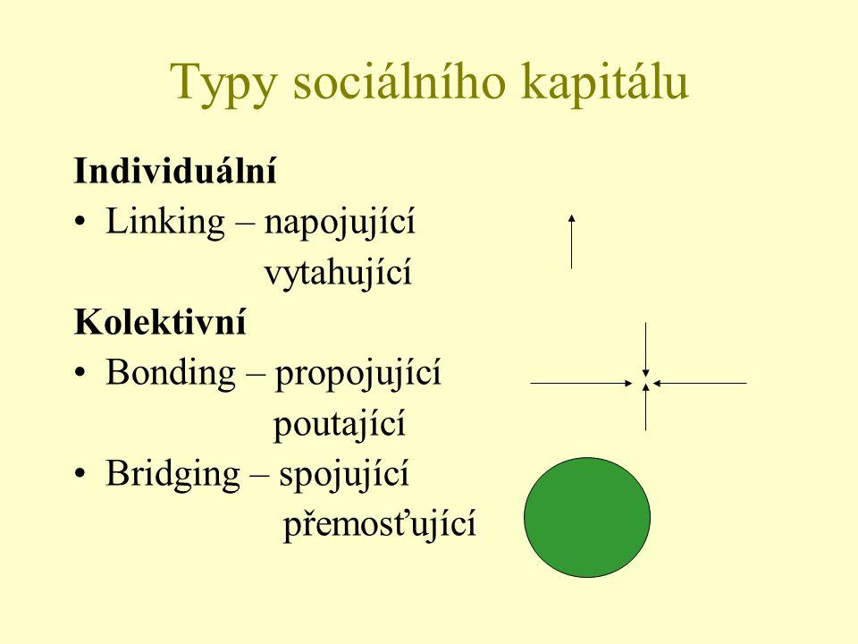 Typy sociálního kapitálu