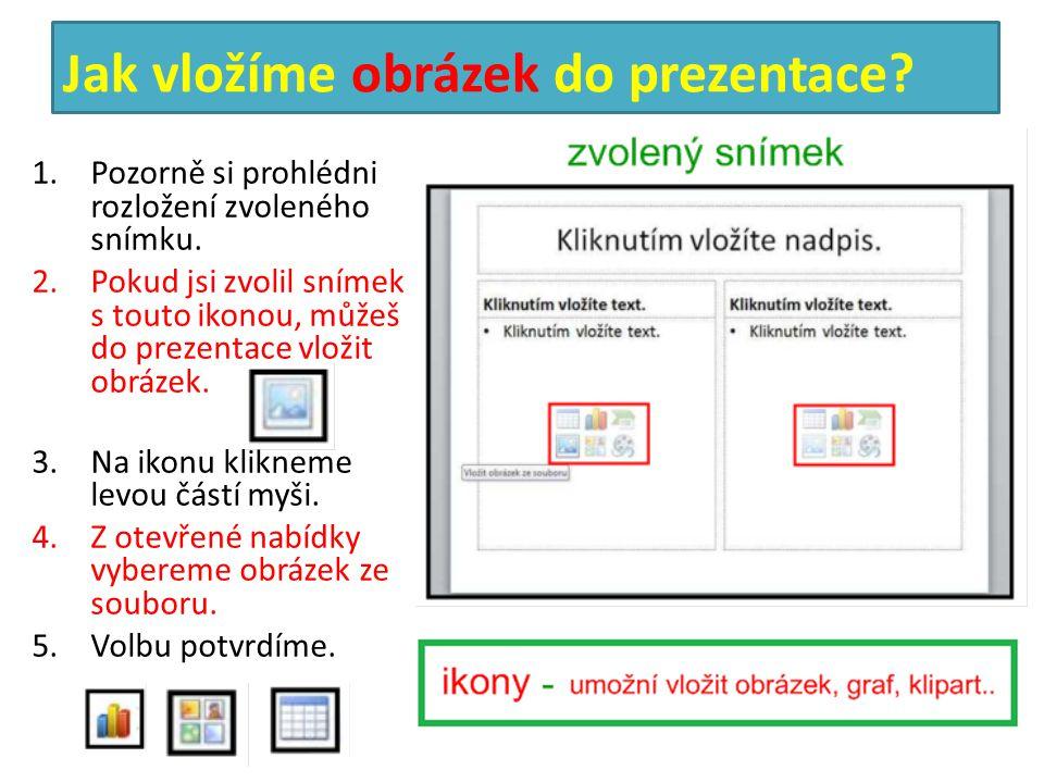 Jak vložíme obrázek do prezentace