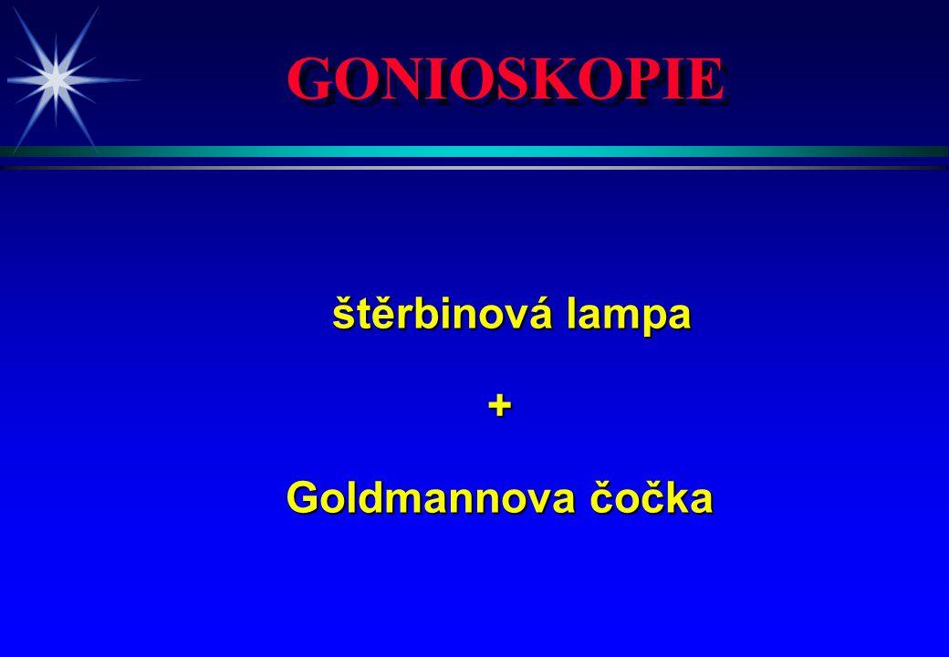 GONIOSKOPIE štěrbinová lampa + Goldmannova čočka 4