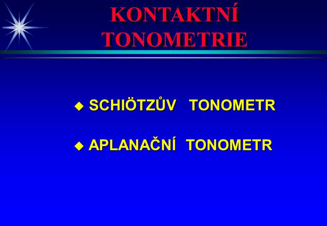 KONTAKTNÍ TONOMETRIE SCHIÖTZŮV TONOMETR APLANAČNÍ TONOMETR 4