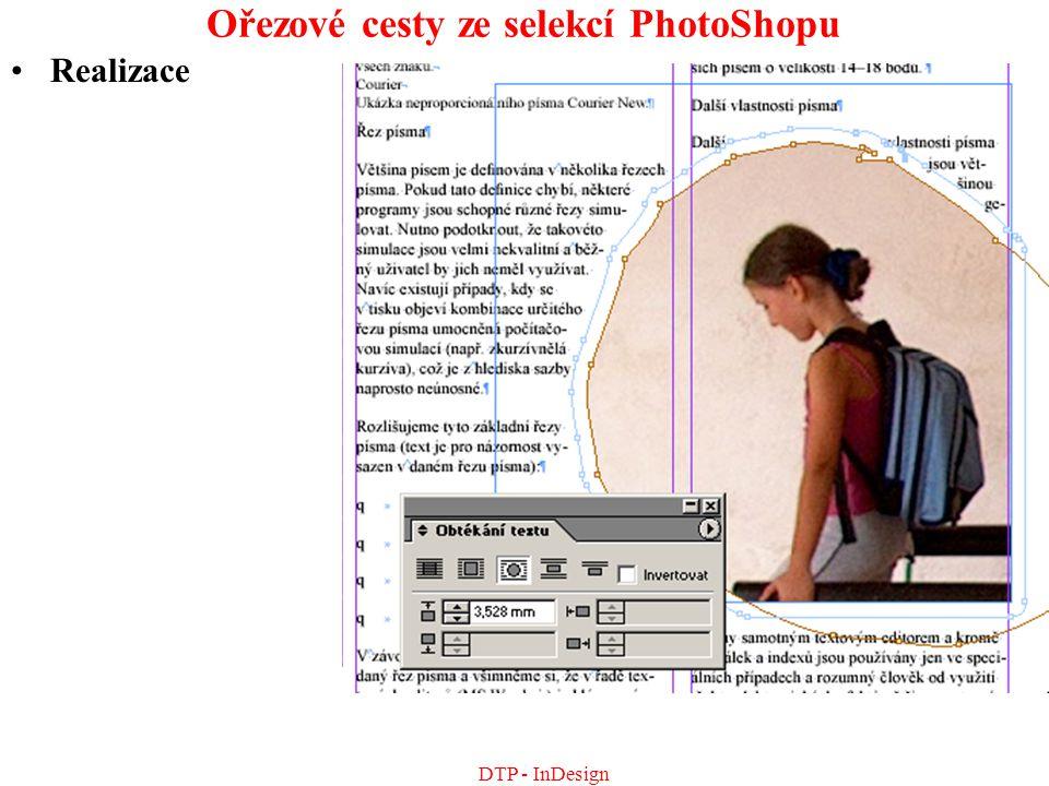 Ořezové cesty ze selekcí PhotoShopu