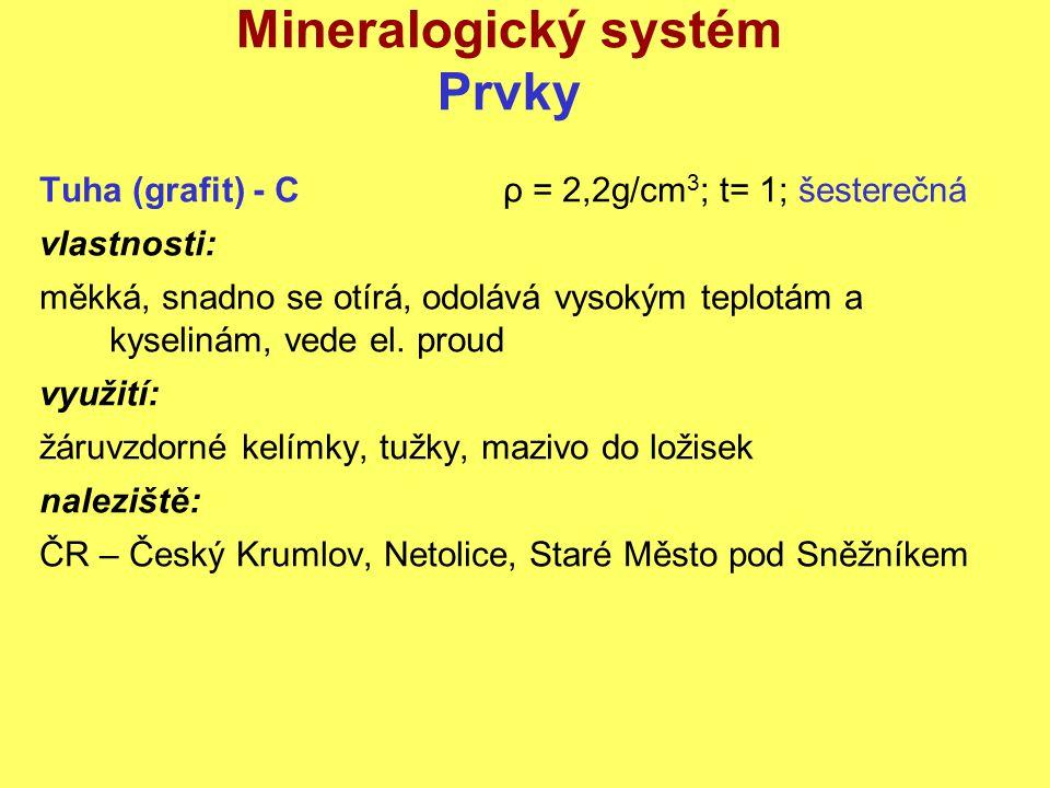 Mineralogický systém Prvky