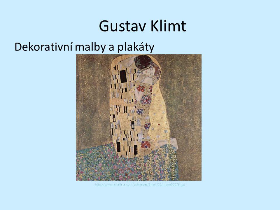 Gustav Klimt Dekorativní malby a plakáty