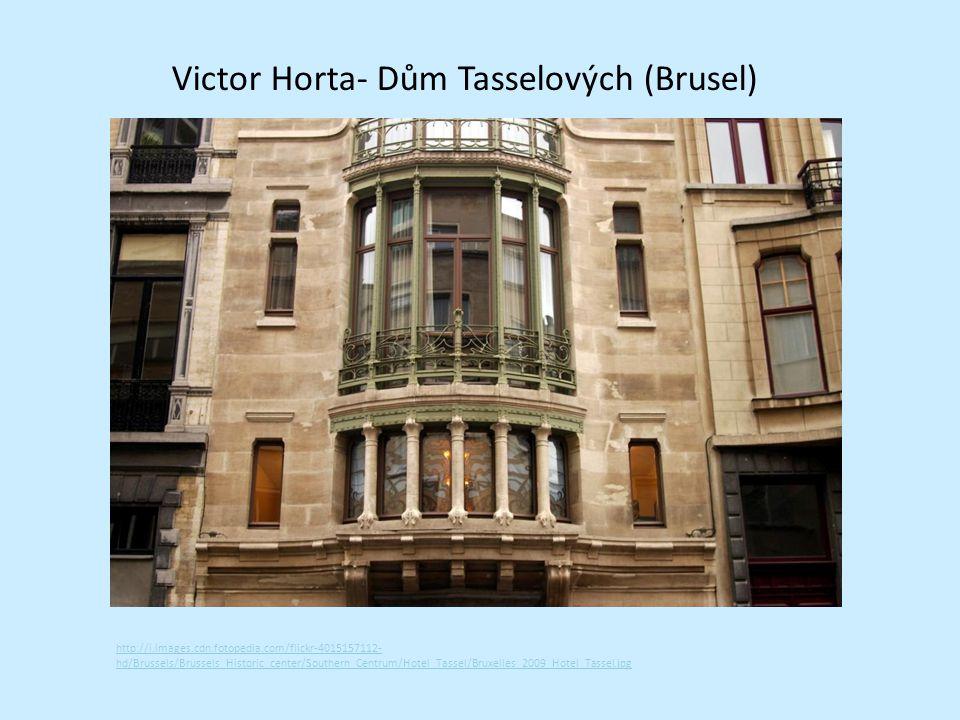 Victor Horta- Dům Tasselových (Brusel)
