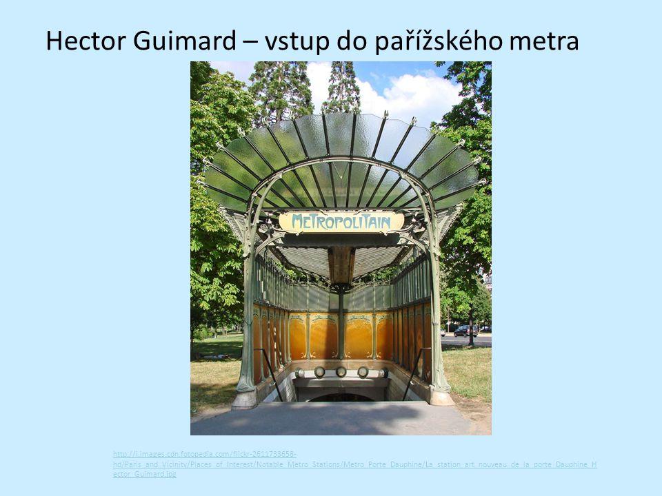 Hector Guimard – vstup do pařížského metra