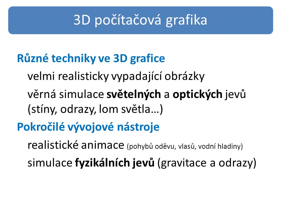 3D počítačová grafika