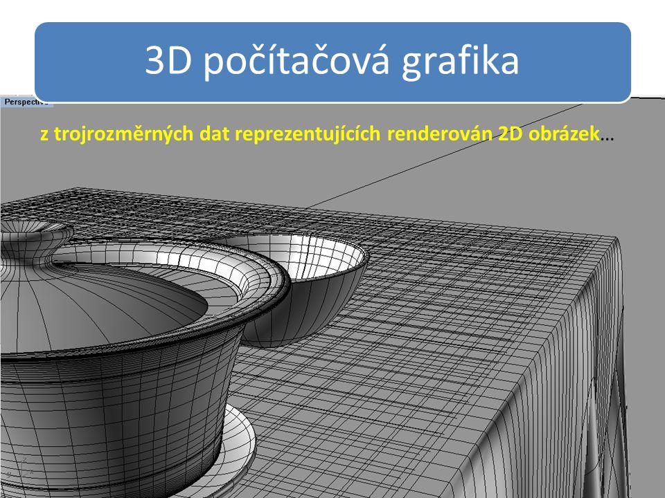 3D počítačová grafika z trojrozměrných dat reprezentujících renderován 2D obrázek…