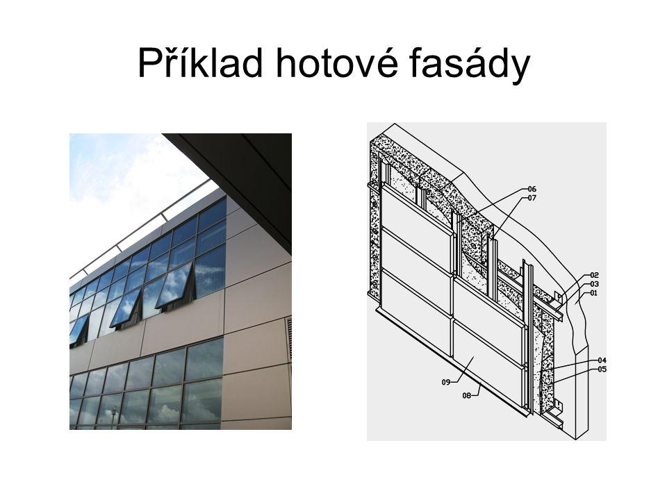 Příklad hotové fasády Skladba roštu zvětšit na celou obr.