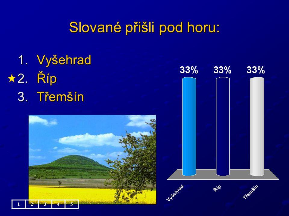 Slované přišli pod horu: