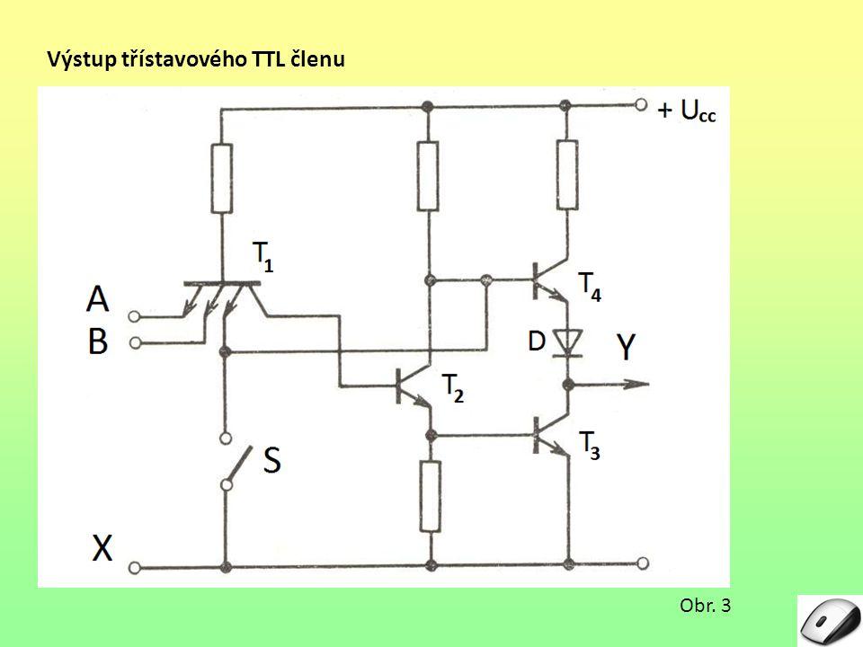 Výstup třístavového TTL členu