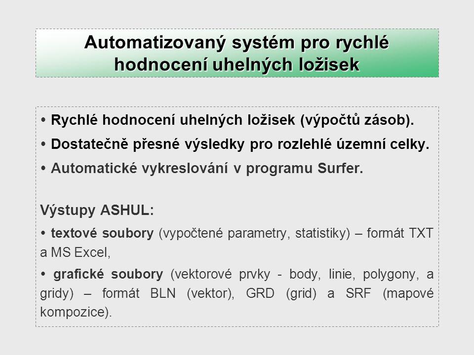 Automatizovaný systém pro rychlé hodnocení uhelných ložisek